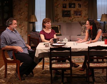 Jonathan Goldstein, Julie-Ann Elliott, and Susan Rome in If I Forget. Photo: Carol Rosegg