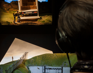Behind the action: three models from the epic adventure Flight. Photo: Drew Farrell.
