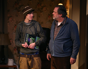 Joshua Otten and Jonathan Goldstein in If I Forget. Photo: Carol Rosegg