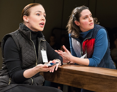 Returning cast members Laura C. Harris and Kelly McCrann in Studio Theatre's 2018 staged production of Kings. Photo by C. Stanley Photography