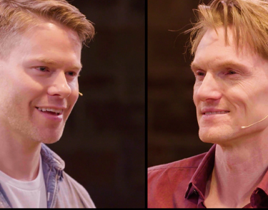 Randy Harrison and Scott Parkinson in Cock. Photo courtesy of Studio Theatre. Video Production by Studiio Box DC.