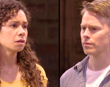 Kathryn Tkel and Randy Harrison in Cock. Photo courtesy of Studio Theatre. Video Production by Studiio Box DC.