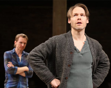 Randy Harrison and Scott Parkinson in rehearsal for Cock.